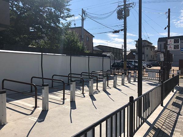 二条城のバイク専用の駐輪場