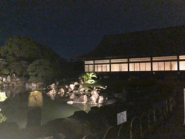 二の丸庭園 夜 ライトアップ
