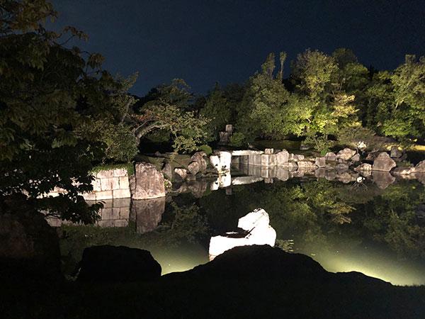 二の丸庭園 ライトアップ