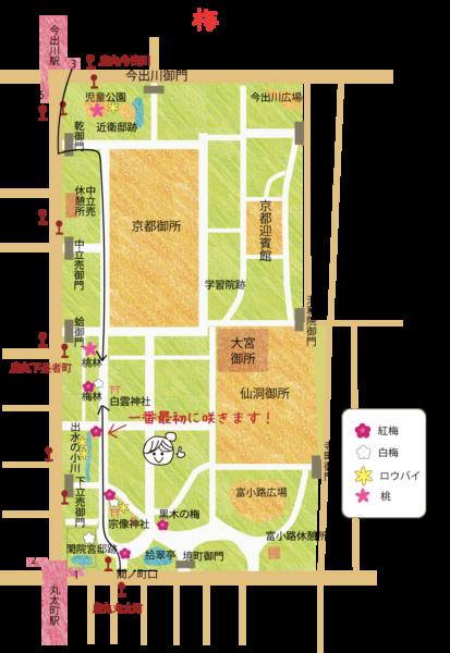 京都御所 梅林 地図