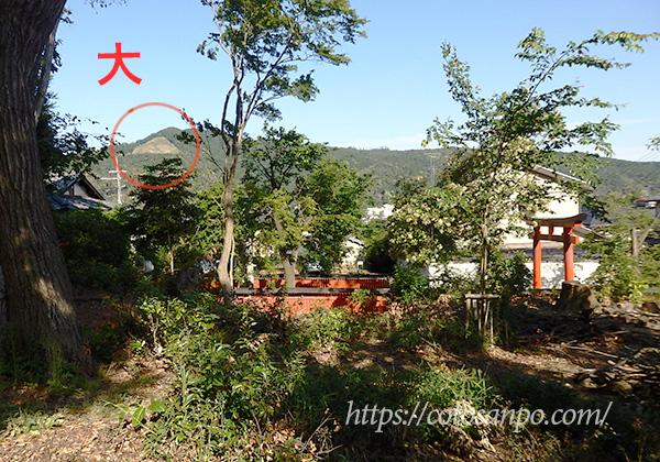吉田山山頂公園 大文字