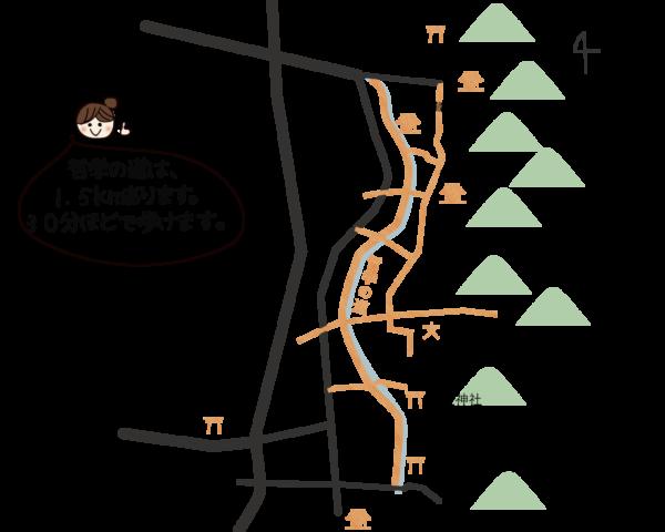 哲学の道地図