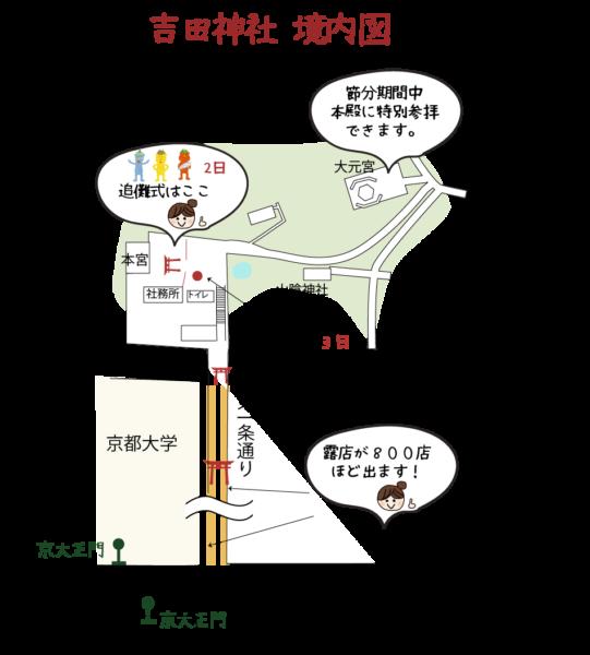 吉田神社 境内図