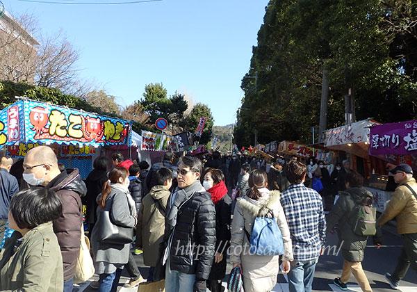 吉田神社 節分 露店